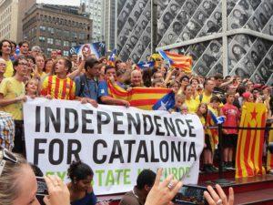 Demonstration für Unabhängigkeit von Katalonien