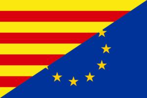 Katalonien-EU-Flagge