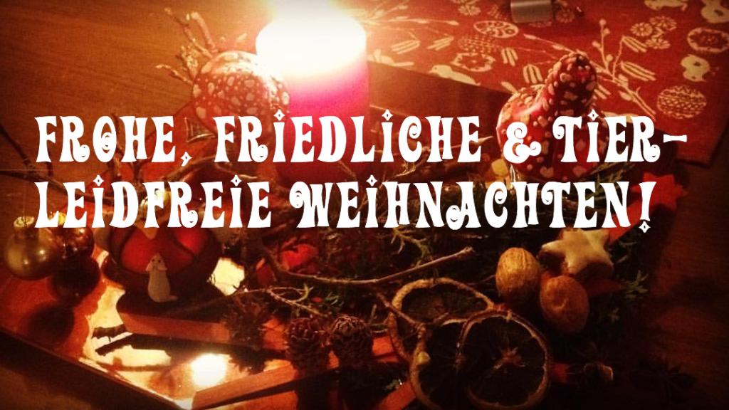 Frohe, friedliche & tierleidfreie Weihnachten