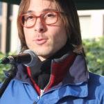 Matthias Ebner bei Demo gegen Tiertransporte in Brüssel
