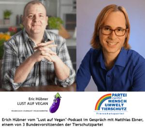 """Eric Hübner von """"Lust auf Vegan"""" im Gespräch mit Matthias Ebner"""