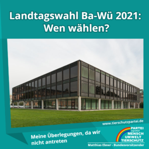 Landtagswahl BW 2021: wen wählen?